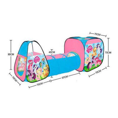 Детская игровая палатка My Little Pony с тоннелем 237х70х90см (M 5793)