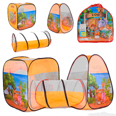 """Детская игровая палатка - тоннель Play Smart """"Зоопарк"""" 8015 ZOO (270х92х92 см)"""