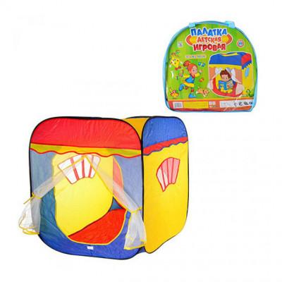 Детская игровая палатка Карета 3003 домик в сумке, с занавесками, размер 87х88х108 см (M 1402)