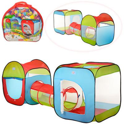 Детская игровая палатка с тоннелем (M 2503)