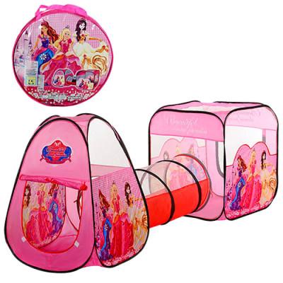 Детская игровая палатка c тоннелем Принцессы (M 2959)