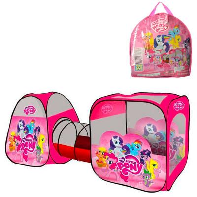 Детская игровая палатка c тоннелем My little pony (M 3774)