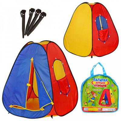 Детская игровая палатка на липучке Bambi Пирамида 83х83х108 см (M0053)