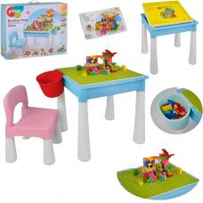 Столик игровой с конструктором со стульчиком P 3035