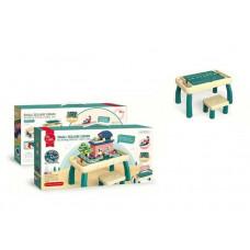 Столик игровой с конструктором и стульчиком 6060 Y, 120 деталей