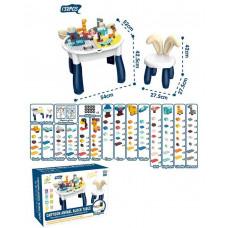 Столик игровой с конструктором 6872 в коробке, 132 детали