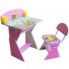 Детская парта + стул Веселой учебы E2017 Pink