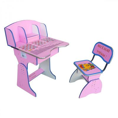 Детская парта со стульчиком Веселой учебы (E2881 Pink)
