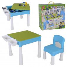Детский игровой столик с конструктором - 505 крупных деталей (LX.A 371)