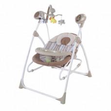 Детская качель-шезлонг-колыбель с пультом Baby Tilly BT-SC-0005