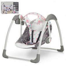 Кресло-качалка Mastela Deluxe Portable Swing (Серо-розовый, серо-голубой)