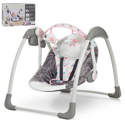 Кресло-качалка Mastela Deluxe Portable Swing Серо-розовый, серо-голубой