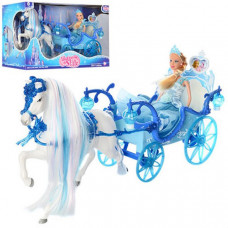 Карета с лошадью и куклой (33 см)