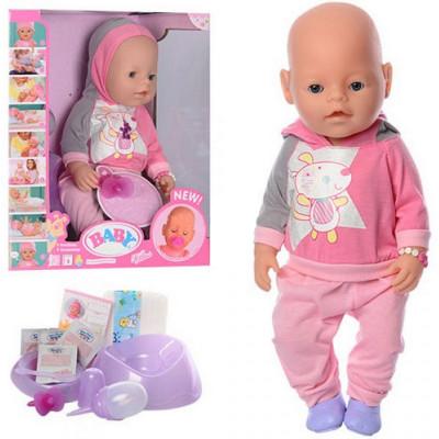 Интерактивный Пупс Baby Born (Беби Борн) Маленькая Ляля c мaгнитнoй cocкoй и aкceccуapaми (8020-456)