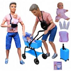 Кукла Кен с младенцем Defa 8369 / Набор кукла Кен с ребенком и аксессуарами