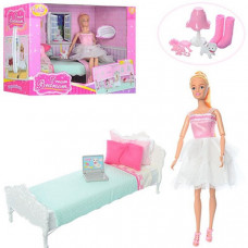 Кукла шарнирная Anlily с мебелью Спальня - 30 см