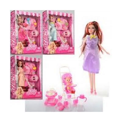 Кукла Барби Sally беременная с ребенком и аксессуарами, в ассортимнете 3 вида (KX8800)