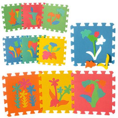 Детский напольный коврик-пазл, мозаика Растения EVA 10 элементов ( M 0386)