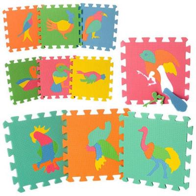 Детский напольный коврик-пазл, мозаика Птицы EVA 10 элементов (M 0387)