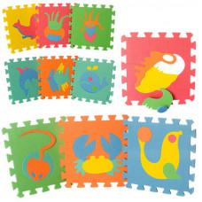 Детский напольный коврик-пазл, мозаика M 0388 EVA Морские животные