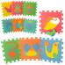 Детский напольный коврик-пазл, мозаика Морские животные EVA 10 элементов (M 0388)