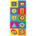 Детский напольный коврик-пазл, мозаика Фигуры больше-меньше EVA 10 элементов (M 2737)