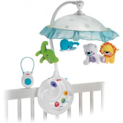 Мобиль с проектором и подвесными игрушками Joy Toy Умный малыш музыкальный (7180)
