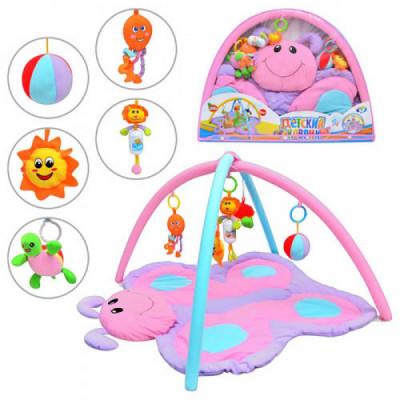 Игровой развивающий коврик для малышей Bambi Бабочка музыкальный (898-11 B)