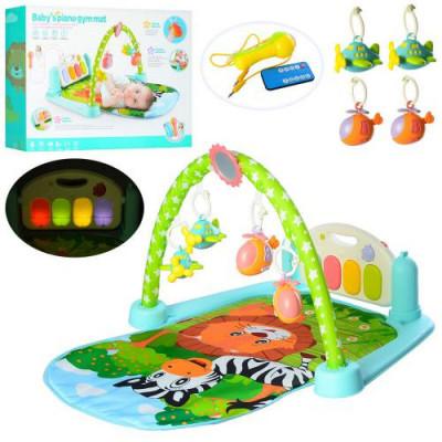 Развивающий музыкальный коврик для младенцев (9913В)