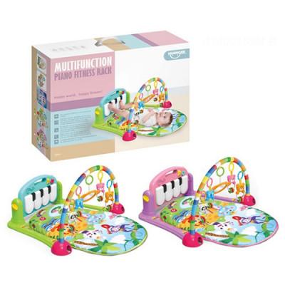 Развивающий коврик Пианино для младенца музыка, свет, игрушки 71х47 см (HE0603-HE0604)