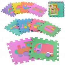 Детский напольный коврик-пазл, мозаика Транспорт M 0377 EVA