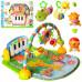 Развивающий коврик-пианино для младенца Bambi: дуга, пианино, подвески, музыка (PA318 (х))