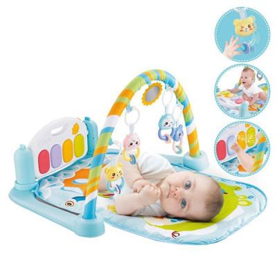 Детский развивающий коврик-пианино для малышей (Розовый, голубой)