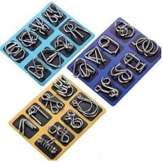 Металлические головоломки набор 8 штук- набор головоломок металлических