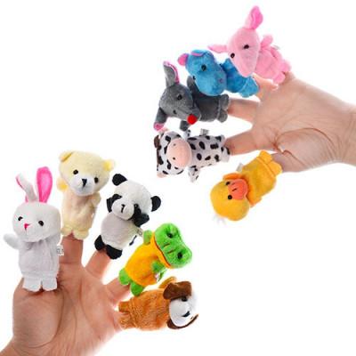 Детские игрушки на руку Пальчиковый театр Зверюшки 10 штук (C012)