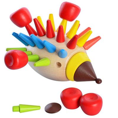 Деревянная игрушка Игра Ежик 10.5х9.5х13 см (M01494)