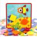 Геометрическая мозаика для малышей Creative Geometry, 12 картинок, 22 фишки (M9AE)