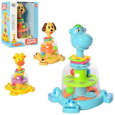 Детская игрушечная юла Собачкас погремушками (SL83058-59-60 )