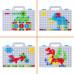 Детская мозаика на шурупах, 193 детали (TLH-28)