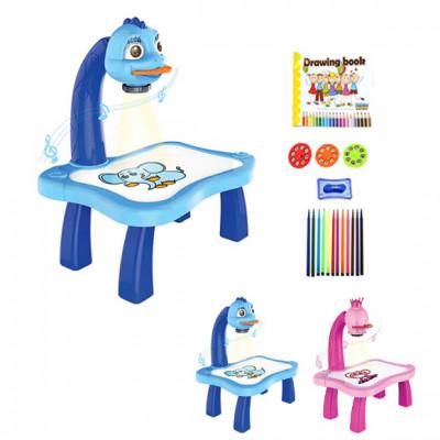 Детский проектор для рисования, музыка, свет, слайды 24 картинки (YM6776-6886)