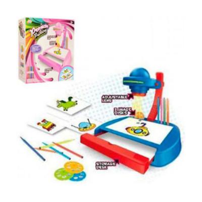 Детский проектор для рисования, слайды 24 картинки, фломастеры, свет (YM887-8)