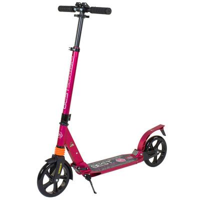 Самокат алюминиевый двухколесный Best Scooter - Малиновый