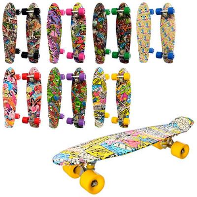 Скейт Penny board Пенни борд светящиеся колеса (MS 0748-4)
