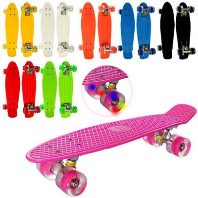 Скейт Пенни борд (Penny board) светятся колеса, разные цвета (MS 0848-2)