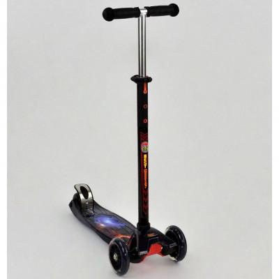 Самокат-кикборд Best Scooter MAXI Космос, светящиеся колеса (1311)
