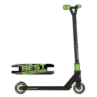 Самокат трюковый Best Scooter HIC-система (Черный с зеленым)