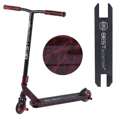 Самокат трюковый Best Scooter - HIC-система (Красный принт)