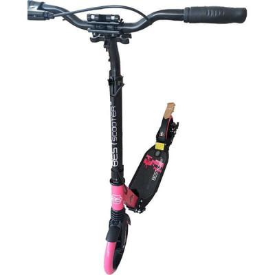 Самокат алюминиевый Best Scooter (Черный с розовым)