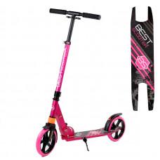 """Самокат двухколесный """"Best Scooter"""" 211681, колеса PU, d колес - 200мм, 1 амортизатор передний, в коробке, Розовый"""