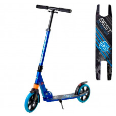 """Самокат двухколесный """"Best Scooter"""" 212681, колеса PU, d колес - 200мм, 1 амортизатор передний, в коробке, Синий"""
